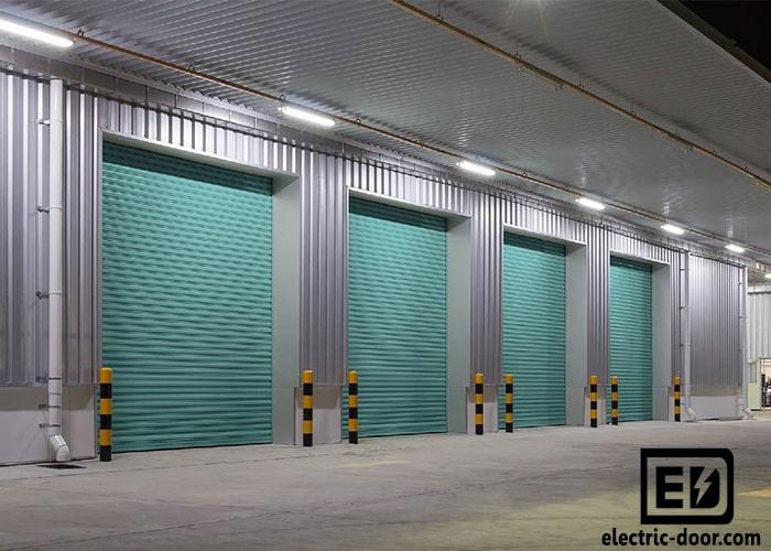 ابعاد انواع درب کرکره ای پارکینگ